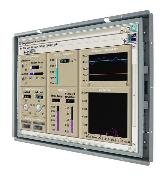 Front-right-WM 19-VDP-OF-PRS / TL Produkt-Welten / Industriemonitor / Open Frame (Einbau von hinten) / Touch-Screen für 1-Finger-Bedienung