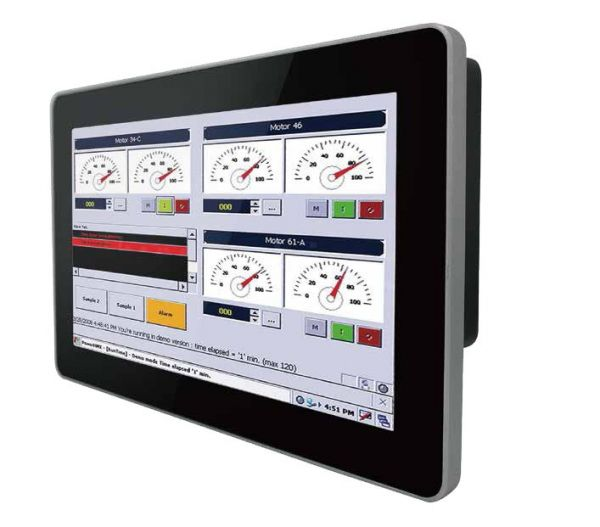 01-Front-right-10W-VD-CH-MTU / TL Produkt-Welten / Industriemonitor / Chassis (VESA-Mounting) / Multitouch-Screen, projiziert-kapazitiv (PCAP)