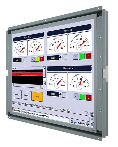 Front-rightWM 17-VDP-OF-PRU / TL Produkt-Welten / Industriemonitor / Open Frame (Einbau von hinten) / Touch-Screen für 1-Finger-Bedienung