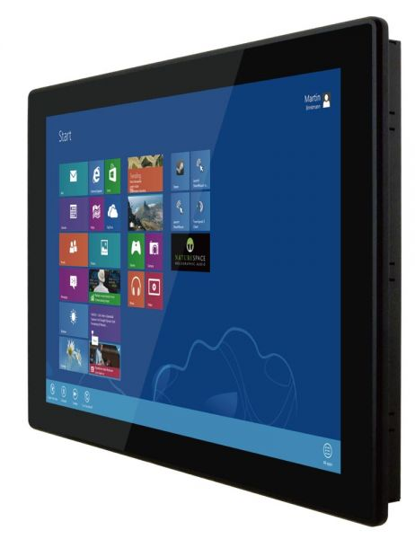 01-Front-right-W22IKWS-MHA3 / TL Produkt-Welten / Panel-PC / Panel Mount (Einbau von vorne) / Multitouch-Screen, projiziert-kapazitiv (PCAP)