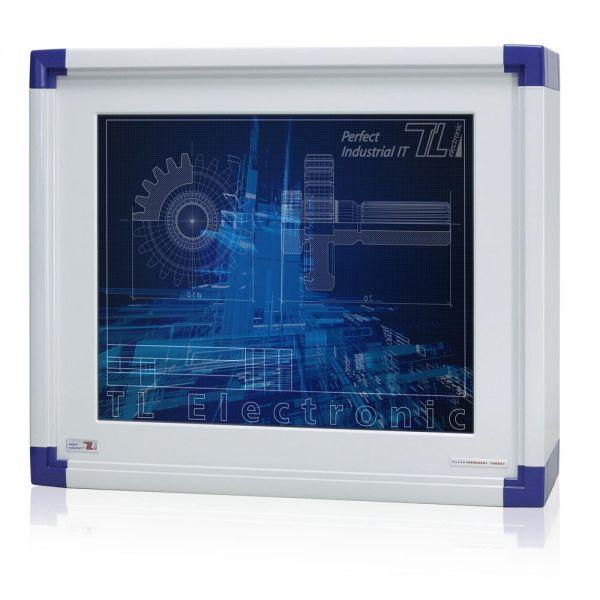 01-Front-IP65-WM19PCA / TL Produkt-Welten / Panel-PC / mit Rundumschutz mit oder ohne Tastaturfront / Touch-Screen für 1-Finger-Bedienung