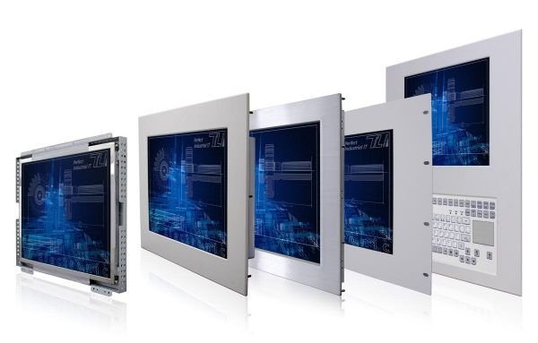 01-Front-WM17PME / TL Produkt-Welten / Industriemonitor / Panel Mount (Einbau von vorne) / Touch-Screen für 1-Finger-Bedienung