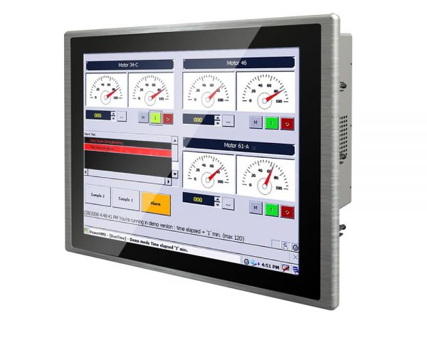 01-Front-right-W15IK3S-PPA4 / TL Produkt-Welten / Panel-PC / Panel Mount (Einbau von vorne) / Multitouch-Screen, projiziert-kapazitiv (PCAP)