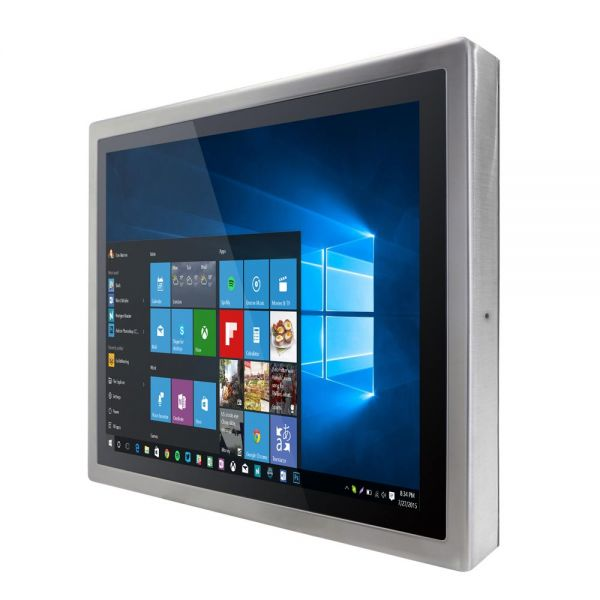 01-Front-right-R17IH3S-SPA1 / TL Produkt-Welten / Panel-PC / Chassis Edelstahl (VESA-Mounting) / Multitouch-Screen, projiziert-kapazitiv (PCAP)