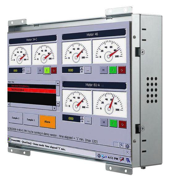 21-Front-right-W10IB3S-OFH1 / TL Produkt-Welten / Panel-PC / Open Frame (Einbau von hinten) / Touch-Screen für 1-Finger-Bedienung