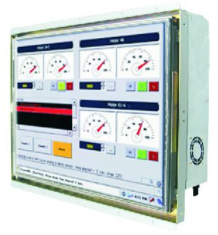 21-Front-right-W15H7T-OFA2 / TL Produkt-Welten / Panel-PC / Open Frame (Einbau von hinten) / Touch-Screen für 1-Finger-Bedienung