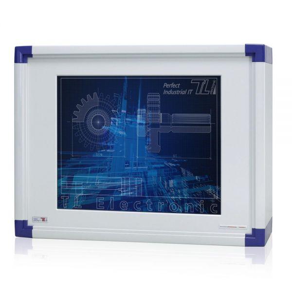 01-Front-left-WM12-6HE / TL Produkt-Welten / Industriemonitor / mit Rundumschutz mit oder ohne Tastaturfront / Touch-Screen für 1-Finger-Bedienung