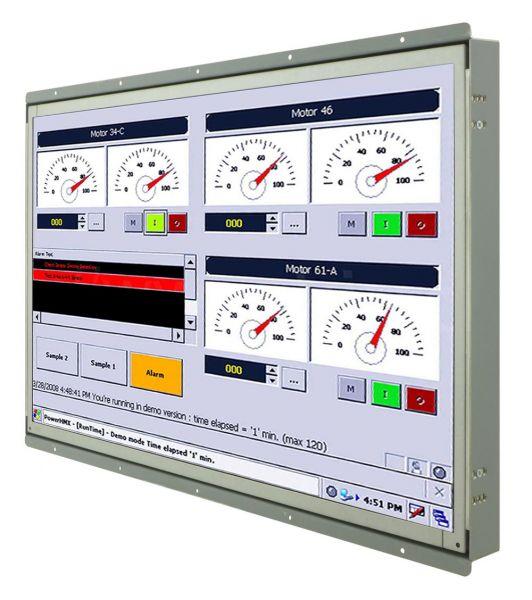 Front-right-WM 22W-VDP-OF / TL Produkt-Welten / Industriemonitor / Open Frame (Einbau von hinten) / ohne Touch-Screen